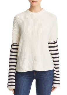 AQUA Striped-Arm Sweater - 100% Exclusive