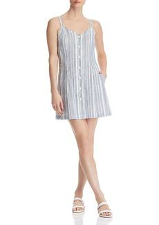 AQUA Striped Button-Front Dress - 100% Exclusive