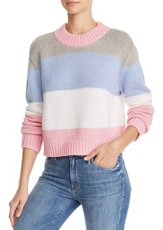 AQUA Striped Cropped Sweater - 100% Exclusive