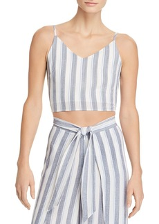 AQUA Striped Cropped Top - 100% Exclusive