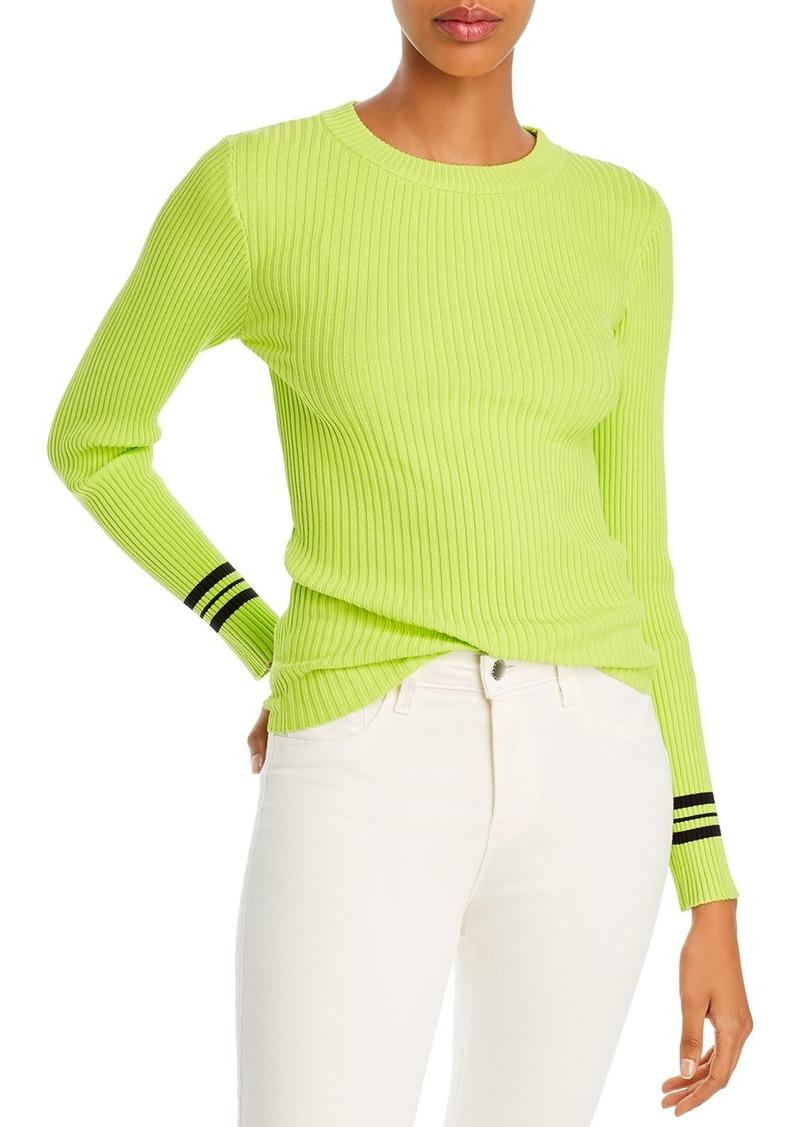 AQUA Striped-Cuff Sweater - 100% Exclusive