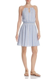 AQUA Smocked-Waist Striped Dress - 100% Exclusive