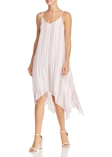 AQUA Striped Handkerchief-Hem Dress - 100% Exclusive