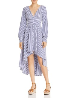 AQUA Striped High/Low Dress - 100% Exclusive