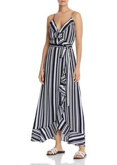 AQUA Striped Maxi Wrap Dress - 100% Exclusive
