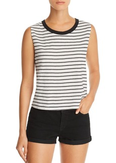 AQUA Striped Muscle Tank - 100% Exclusive