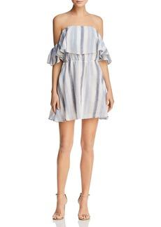 AQUA Striped Off-the-Shoulder Dress - 100% Exclusive