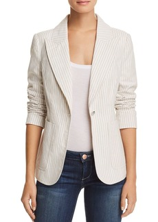 AQUA Striped One-Button Blazer - 100% Exclusive