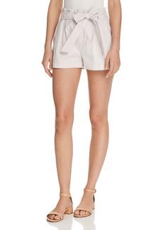 AQUA Striped Paperbag-Waist Shorts - 100% Exclusive