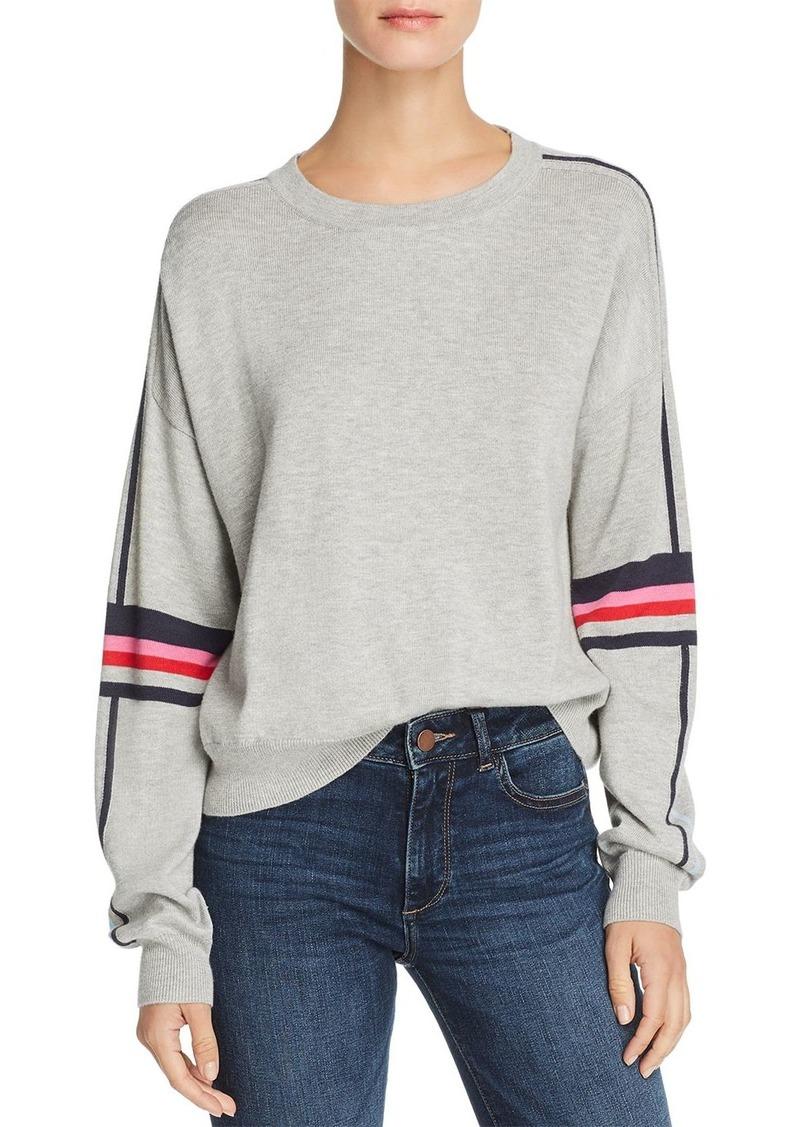 AQUA Striped-Sleeve Sweater - 100% Exclusive