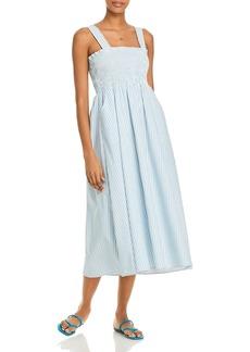 AQUA Smocked Midi Dress - 100% Exclusive