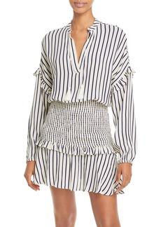 AQUA Striped Smocked Mini Dress - 100% Exclusive