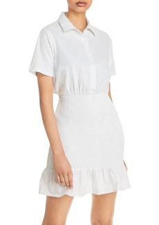 AQUA Striped Smocked Shirtdress - 100% Exclusive