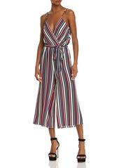 AQUA Striped Wide-Leg Jumpsuit - 100% Exclusive