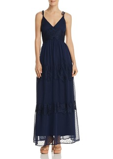 AQUA Swiss Dot & Lace Maxi Dress - 100% Exclusive