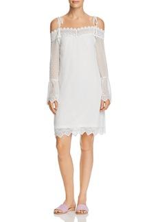 AQUA Swiss Dot Cold-Shoulder Dress - 100% Exclusive