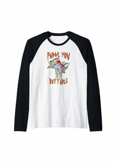 Aqua Teen Hunger Force Fudge You Butthole Raglan Baseball Tee