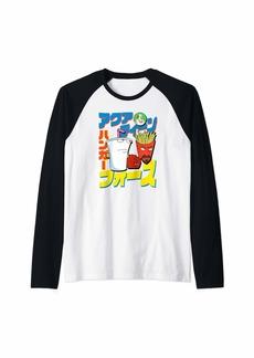 Aqua Teen Hunger Force Japanese Comic Raglan Baseball Tee