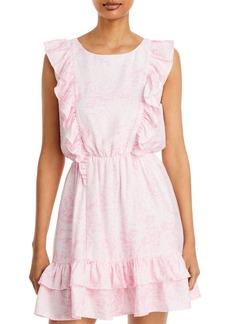 AQUA Tess Frill Floral Mini Dress - 100% Exclusive