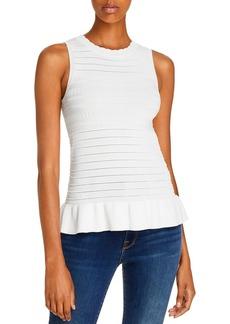 AQUA Texture Striped Sleeveless Knit Top - 100% Exclusive