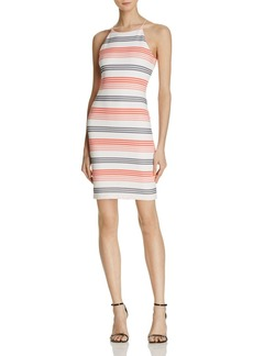 AQUA Textured Stripe Dress - 100% Exclusive