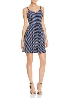 AQUA Textured Striped Cami Dress - 100% Exclusive