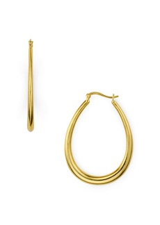 AQUA Thick Hoop Earrings in 18K Gold-Plated Sterling Silver or Sterling Silver - 100% Exclusive