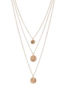 "AQUA Three-Layer Coin Pendant Necklace, 24"" - 100% Exclusive"