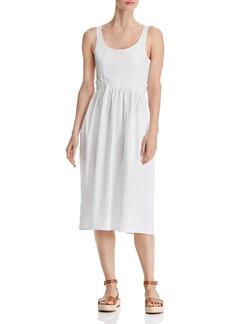 AQUA Tie-Back Poplin Midi Dress - 100% Exclusive
