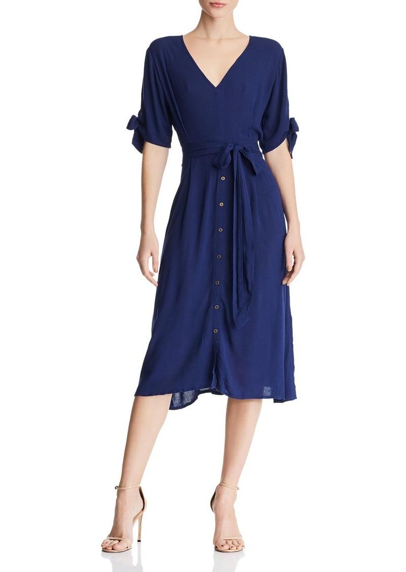 AQUA Tie-Cuff Midi Dress - 100% Exclusive