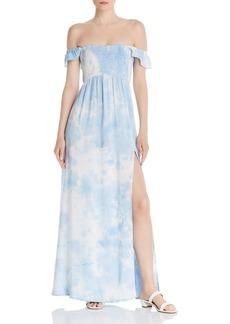 AQUA Tie-Dye Off-the-Shoulder Maxi Dress - 100% Exclusive