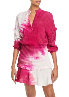 AQUA Tie Dyed Smocked Mini Dress - 100% Exclusive