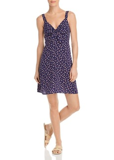 AQUA Tie-Front Ditsy Floral Dress - 100% Exclusive