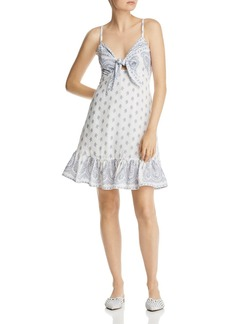 AQUA Tie-Front Floral & Paisley Dress - 100% Exclusive