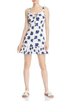 AQUA Tie-Front Floral Dress - 100% Exclusive