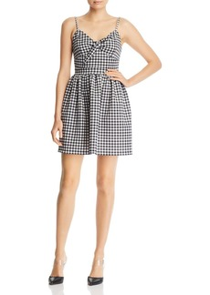 AQUA Tie-Front Gingham Dress - 100% Exclusive