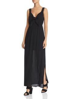 AQUA Tie-Front Maxi Dress - 100% Exclusive