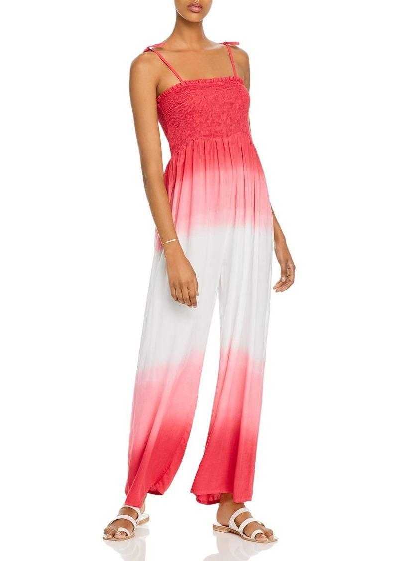 AQUA Tie-Strap Dip-Dye Jumpsuit - 100% Exclusive