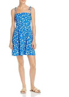 AQUA Tie-Strap Floral Dress - 100% Exclusive