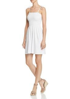 AQUA Tie-Strap Smocked Dress - 100% Exclusive