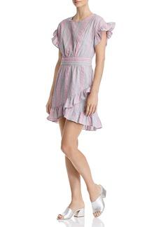 AQUA Tie-Waist Ruffled Striped Dress - 100% Exclusive