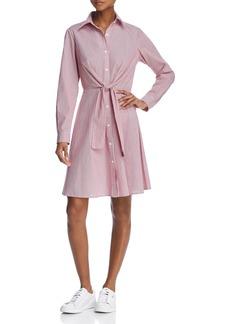 AQUA Tie-Waist Striped Shirt Dress - 100% Exclusive