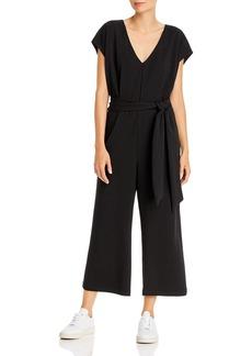 AQUA Tie-Waist Wide-Leg Jumpsuit - 100% Exclusive