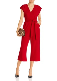 AQUA Tie-Waist Wide-Leg Jumpsuit - 100% Exclusive
