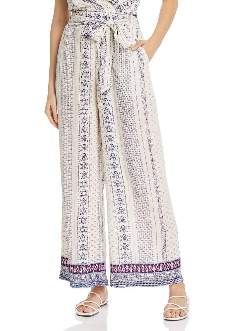 AQUA Tie-Waist Wide-Leg Pants - 100% Exclusive