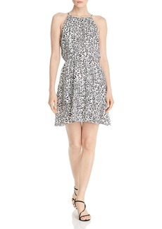 AQUA Tiered Leopard Print Dress - 100% Exclusive