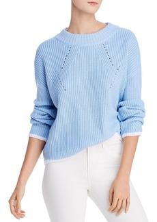 AQUA Tipped Crewneck Sweater - 100% Exclusive