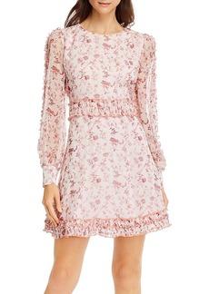 AQUA Toile Floral Print Dress - 100% Exclusive
