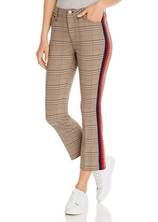 AQUA Striped-Trim Plaid Ponte Pants - 100% Exclusive