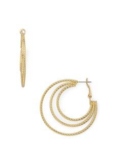 AQUA Triple Hoop Earrings